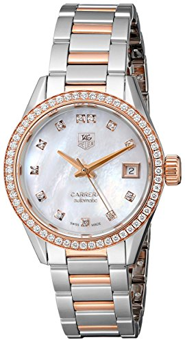 TAG Heuer Women's WAR2453.BD0772 Diamond-Accented Rose