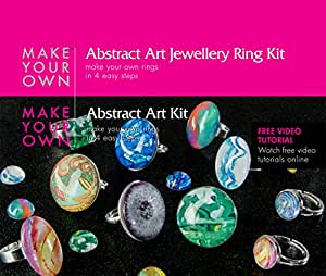Ring Jewelry Making Craft Kit Abstract Art Make Your Own Costume Jewelry Rings