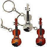 Giftgarden Keychain - Music Theme Gifts - Violin Model Key Chain Charm 1set(3pcs)