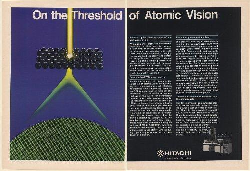 1982 Hitachi H-800 Tem System Electron Microscope Atomic Vision 2-Page Print Ad (Memorabilia) (58747)