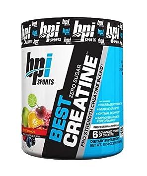 Best Creatine BPI Muskelzuwächse verbessern Kraft steigern Workout (Fruit Punch)