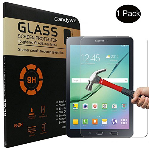 2-PackGalaxy-Tab-S2-97-Screen-ProtectorCandywe-Crystal-Clear-Tempered-GlassGlass-Screen-Protector-for-Samsung-Galaxy-Tab-S2-97-97-Inch-Tablet
