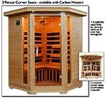 3 Person Sauna Corner Fitting Infrare...