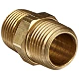Anderson Metals 56122 Brass Pipe Fitting, Hex Nipple, 1/2