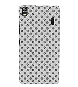 Floral Pattren 3D Hard Polycarbonate Designer Back Case Cover for Lenovo K3 Note :: Lenovo A7000 Turbo