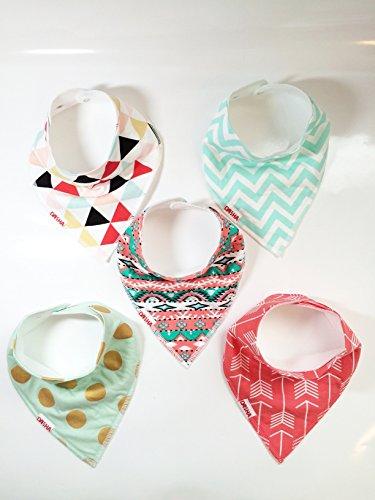 danha baby bandana teething bib for infants and toddlers