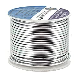Mandala Crafts Colored Aluminum 12 Gauge Jewelry Making Beading Craft Wire, 60 Ft (Silver)