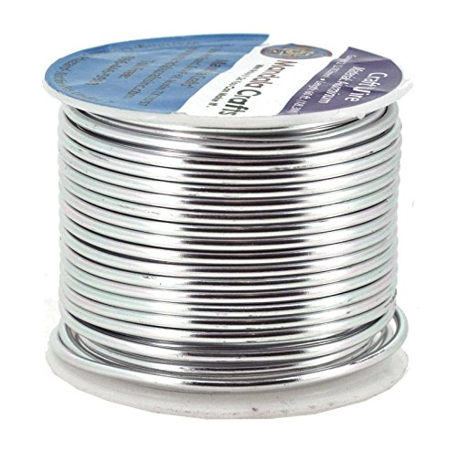 Mandala Crafts Colored Aluminum 12 Gauge Jewelry Making Beading Craft Wire, 60 Ft (Silver) (12 Gauge Craft Wire compare prices)