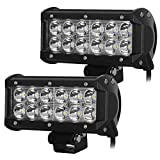 #8: AllExtreme 12 LED Fog Light / Work Light Bar Spot Beam Off Road Driving Lamp 2 Pcs 36W CREE