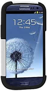Amzer 95710 Hybrid Kickstand Case for Samsung Galaxy S3 Neo and S III GT-I9300 (Black/ White)