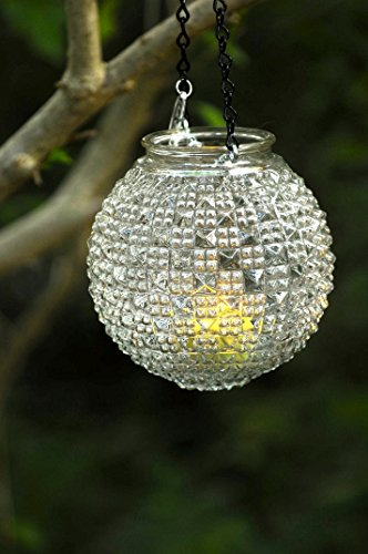 Vintage glass candle holder - hanging mason jar alternative - pendant light - repurposed glass globe (Ball Jar Pendant compare prices)