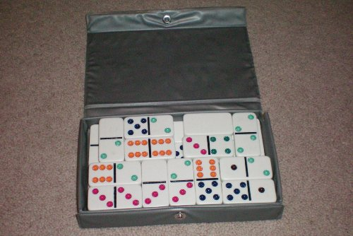 Double Six Dominoes by Cardinal in Vinyl Case -- as shown - 1