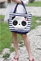 Cute New Korean Cute Panda Bag Handbag Shopping Tote Blue