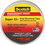 3M COMPANY 6132-BA-100 Plastic Electrical Tape, 3/4-Inches x 66-Feet, Black