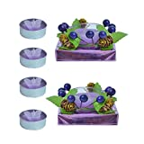 Kriti Creations Unsented Designer Glass With Tea Light Candle