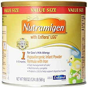 Nutramigen with Enflora LGG, For Cow's Milk Allergy, 19.8 Oz (Pack of 4)