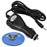 HQRP Car Charger for MID MIDPAD M9000 Android Tablet, Prestigio MultiPad PMP3384B Tablet PC, Power Supply Cord DC Adapter + HQRP Coaster