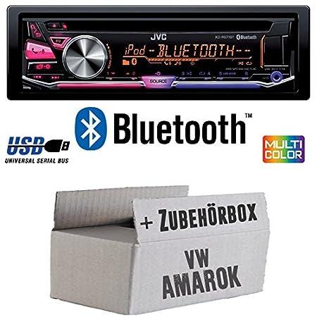 VW Amarok - JVC KD-R971BT - Bluetooth CD/MP3/USB MultiColor Autoradio - Einbauset