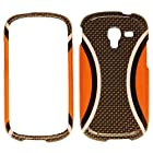 For Samsung Galaxy Exhibit 2013 T599 Orange Gray Wf2578 Cover Hard Case
