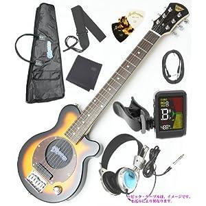 Pignose ( ピグノーズ ) PGG-200/BS アンプ内蔵エレキギター ヘッドフォン、クリップチューナー、専用ケース付 限定セット