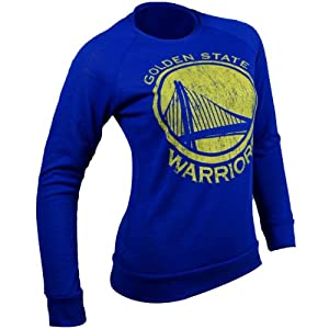 Golden State Warriors NBA Ladies Hacci Slub Crew T-Shirt S by Majestic Threads