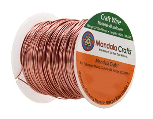 mandala crafts extra long colored aluminum 22 gauge On 22 gauge craft wire
