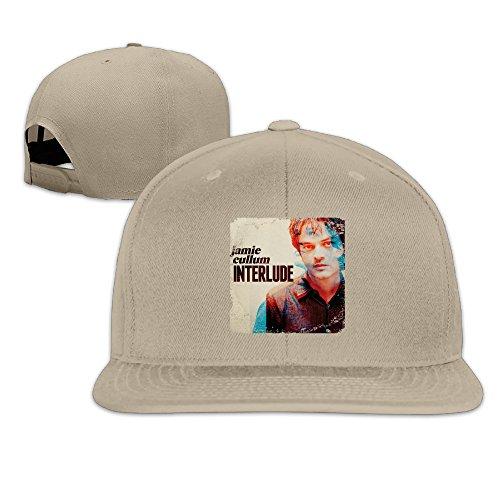 CEDAEI Jamie Cullum - Interlude Jazz Pop Singer Songwriter Flat Bill Snapback Adjustable Hip Hop Cap Hat Natural