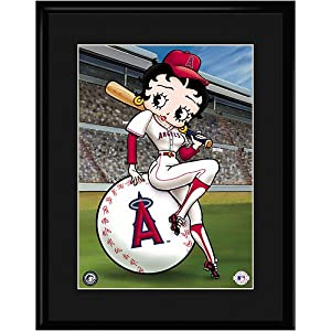 Anaheim Angels MLB Betty On Deck Collectible by Toon Art