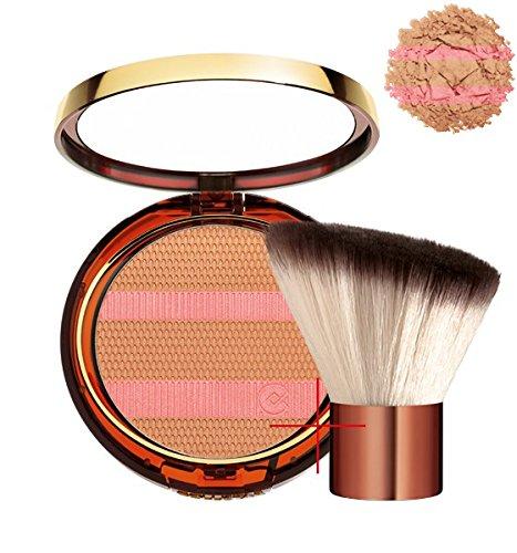terra belle mine effetto naturale + pennello kabuki 1 pelle di rosa