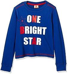 UFO Boys' T-Shirt (AW-16-KC-BKT-201_True Blue_10 - 11 years)