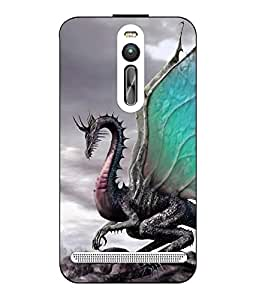 Snazzy Dragon Printed Multicolor Hard Back Cover For Asus Zenfone 2
