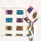 Durable Hand Woven 100% Cotton Silk Screen Print Place Settings Napkins 22x22 Inches Set of 12