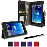rooCASE Asus MeMO Pad HD 7 Case - ME173X Dual View Stand Folio Cover - BLACK (With Auto Wake / Sleep Cover)