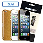 Crystal Shells Slim Diamond Sparkle Decal Trim Skin iPhone 5/5S - Retail Packaging - Gold