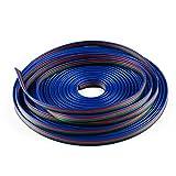 EPBOWPT 10M 4-pin RGB LED Strip Extension Cable Line Cord for 5050 3528 Flexible RGB LED Strip Light
