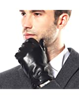 Bestselling Men's Stylish Winter Nappa Leather Gloves (Plush/cashmere Lining)