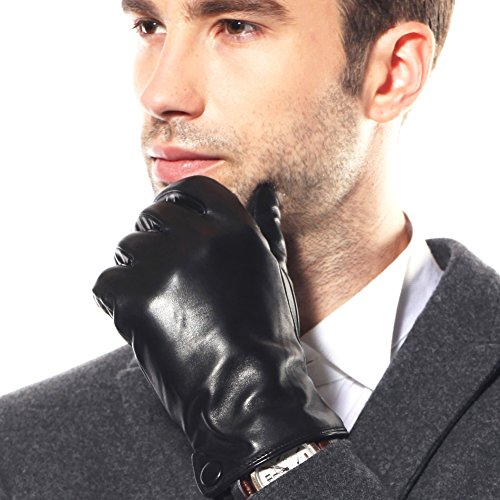 warmen-classic-mens-nappa-leather-driving-lined-winter-warm-gloves-plain-style-xs-true-to-uk-standar