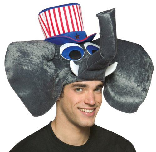 Adult's USA Elephant Costume Hat