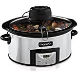 NEW Crock-Pot SCCPVC600AS-P 6-Qt Countdown Slow Cooker w/iStir Automatic Stirring