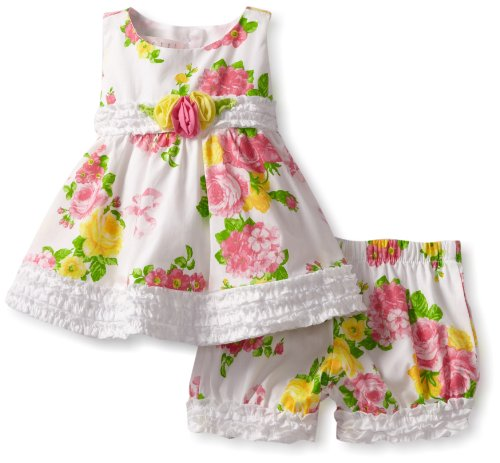 Today Biscotti Baby-Girls Newborn Fresh Bouquet Top and Bloomer, White, 0-6 Months  Best Offer