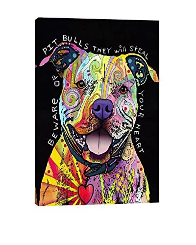 Dean Russo Gallery Beware Of Pit Bulls Canvas Print