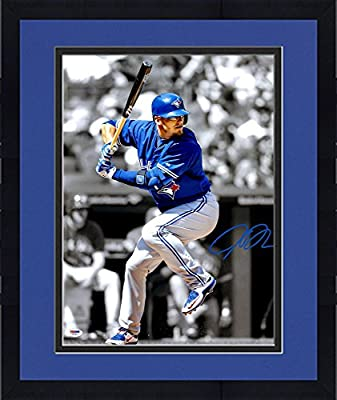 "Framed Josh Donaldson Toronto Blue Jays Autographed 16"" x 20"" Vertical Spotlight Photograph - PSA/DNA Certified"