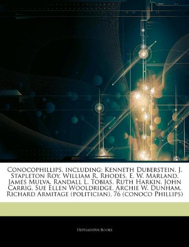 articles-on-conocophillips-including-kenneth-duberstein-j-stapleton-roy-william-r-rhodes-e-w-marland