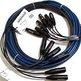 Whirlwind Medusa Multitrack 4 XLR Female Fan to 4 XLR Male Fan Snake Cable, 25' Length