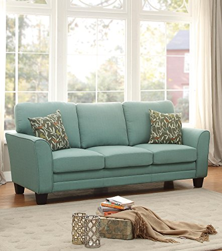 homelegance 8413tl3 fully upholstered with piping trim