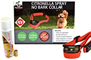 NEW Citronella No Bark Gental Spray, Humane No Shock Collar, Stop barking, Anti-bark with Advanced Bark Detection (Small, Medium, Large Dogs), By Downtown Pet Supply