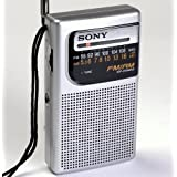 Sony Pocket Size Portable AM/FM Radio with Built-in Speaker, Earphone Jack, LED Tuning Indicator & Carry Strap, All in one Compact Design That Slips Easily Into Shirt or Jacket Pocket * Batteries Included *