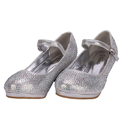 5. Coshare Kid's Fashion Little Girl Pretty Party Dress Pumps