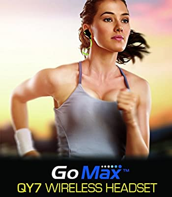 GoMax QY7 Mini Lightweight Wireless Stereo Sports Running & Gym Exercise Bluetooth Earbuds Headphones Headsets w/Microphone for iPhone 6 5s 5c 4s 4, iPad 2 3 4 new iPad, iPod, Android, Samsung Galaxy, most Smartphones Bluetooth Devices
