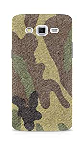 Amez designer printed 3d premium high quality back case cover for Samsung Galaxy Grand 3 (Surface military stains texture)